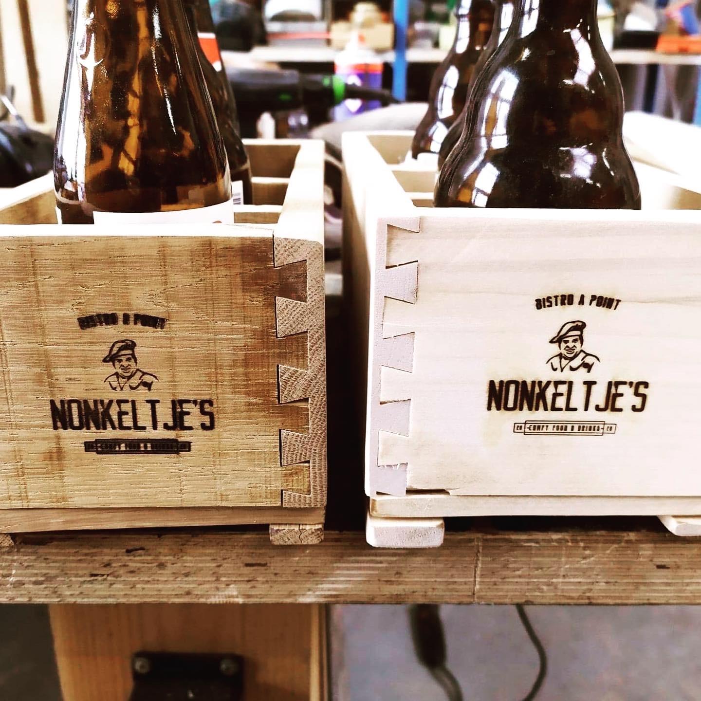 Handgemaakt bierbakje Toåfel/Nonkeltje's