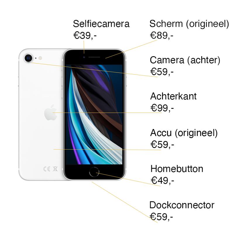 iPhone SE 2020 reparatie prijzen Leeuwarden