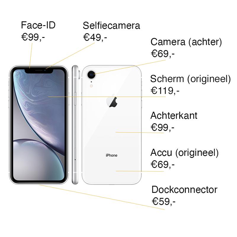 iPhone XR reparatie prijzen Leeuwarden