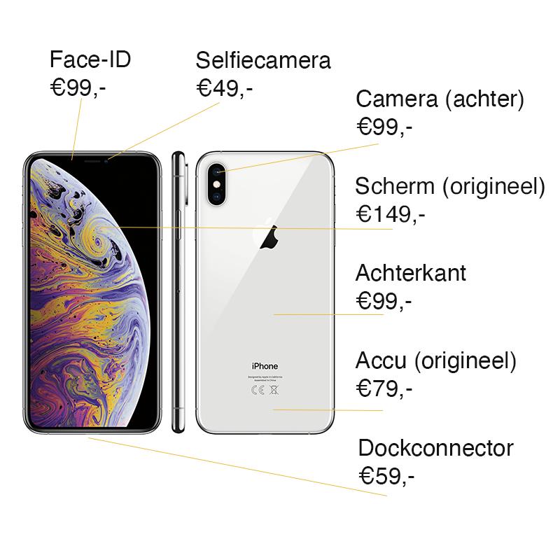 iPhone XS reparatie prijzen Leeuwarden