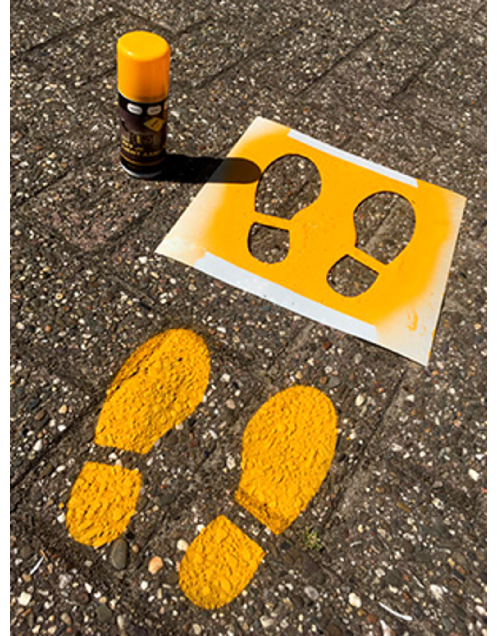YF Specials Stencil     Voetstappen