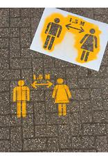 YF Specials Stencil  |  Social distance  |   49 x 50 cm