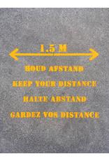 YF Specials Stencil      1,5 m afstand pijl