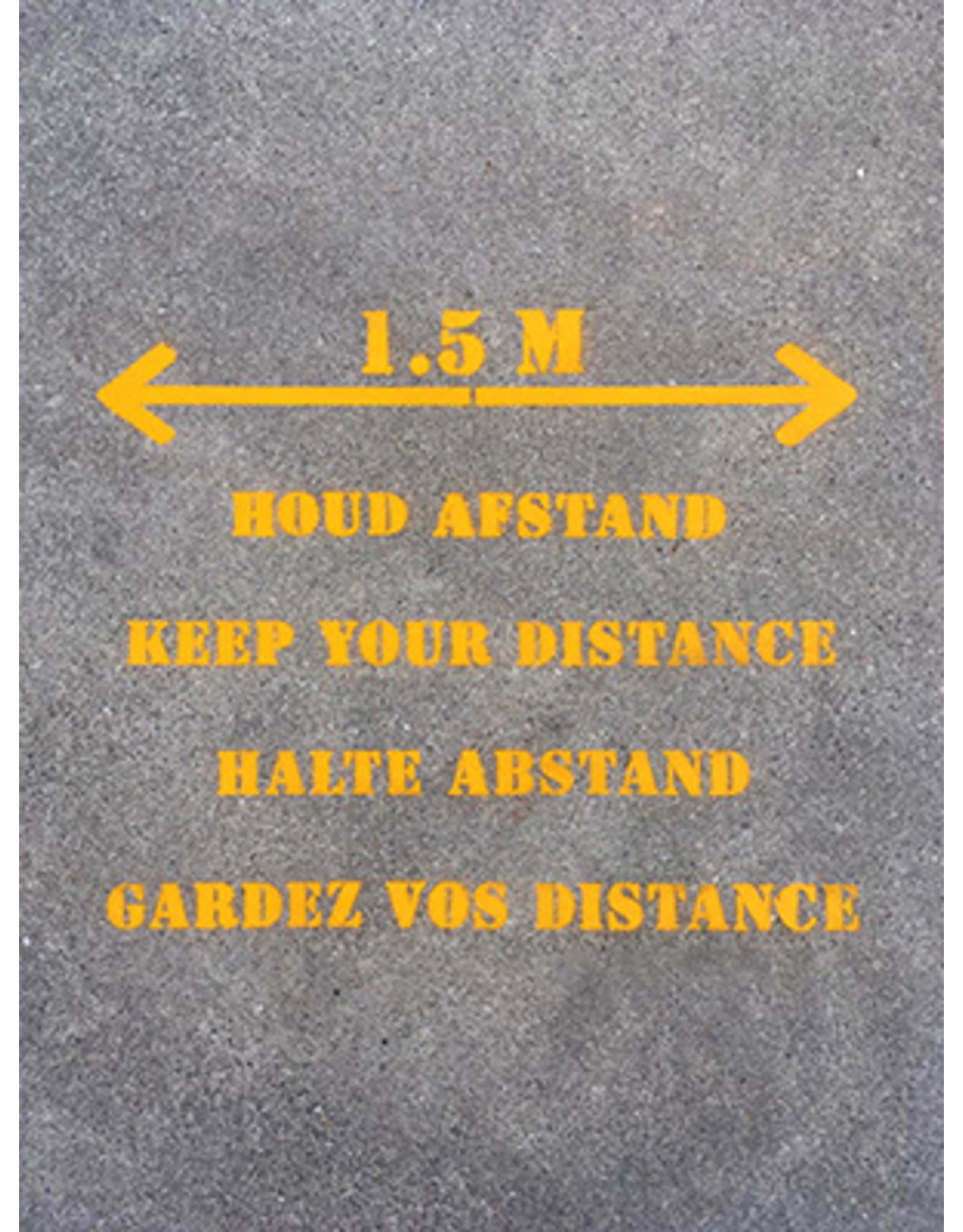 YF Specials Stencil  |   1,5 m afstand pijl