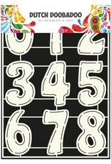 Dutch Doobadoo Dutch Stencil Art A4 Numbers