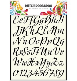 Dutch Doobadoo Dutch Stencil Art A4 Alphabet 3