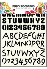 Dutch Doobadoo Dutch Stencil Art A4 Alphabet 4
