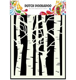 Dutch Doobadoo Dutch Mask Art A5 Birch Trees