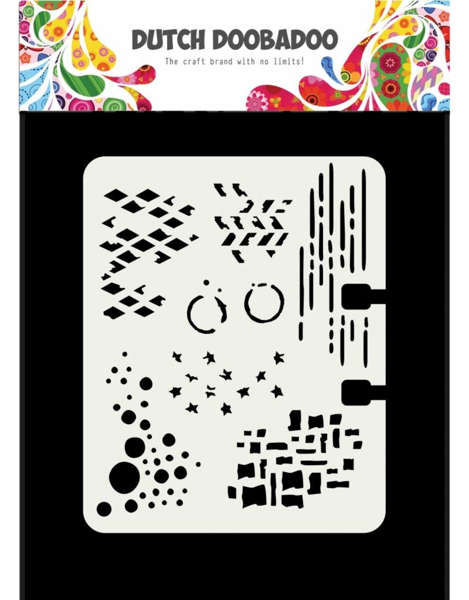 Dutch Doobadoo Dutch Mask Art Rollerdex Pattern 102 x 82 mm
