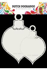 Dutch Doobadoo Dutch Shape Art 2x Christmas Bauble 13x19cm