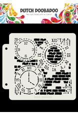 Dutch Doobadoo DDBD Dutch Mask Grunge Clock