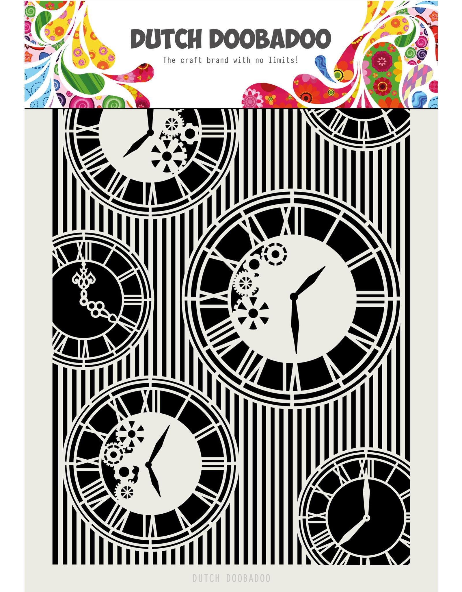 Dutch Doobadoo DDBD Mask Art A4 Clocks Stripes