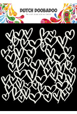 Dutch Doobadoo DDBD Mask Art 15X15cm hearts