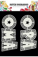 Dutch Doobadoo DDBD Card Art Opa en Oma 2 set A5