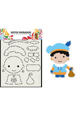 Dutch Doobadoo DDBD Card Art Built up Piet A5