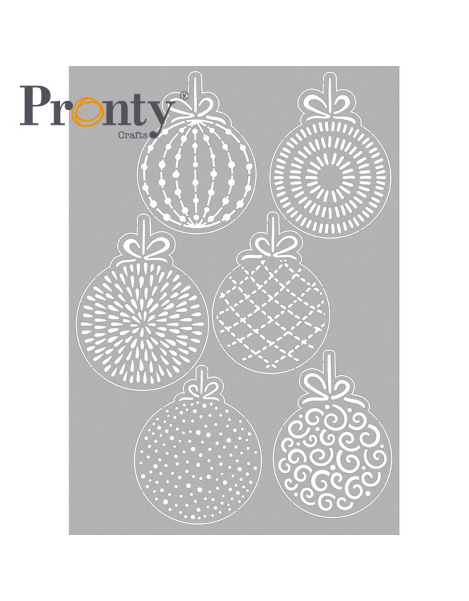 Pronty Crafts Stencil Christmas balls  A5
