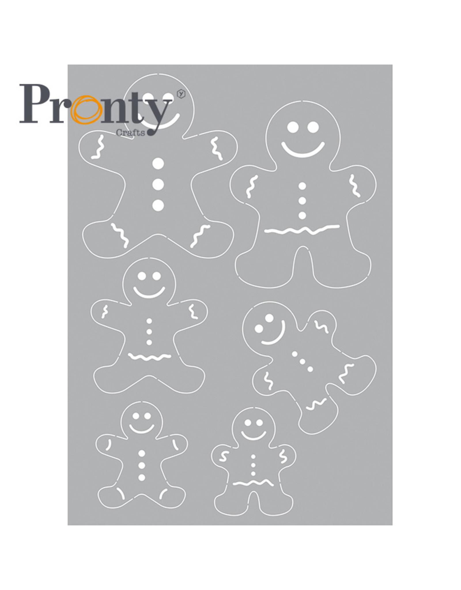 Pronty Crafts Stencil Gingerbread man A5