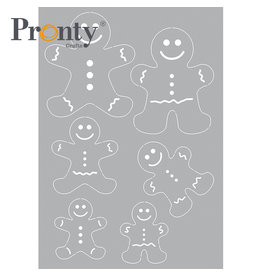 Pronty Crafts Stencil Gingerbread man A5