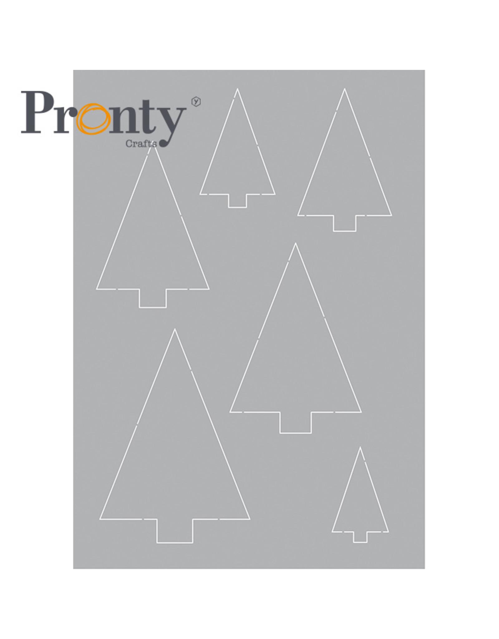 Pronty Crafts Stencil Trees A5