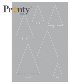 Pronty Crafts Stencil Trees A5