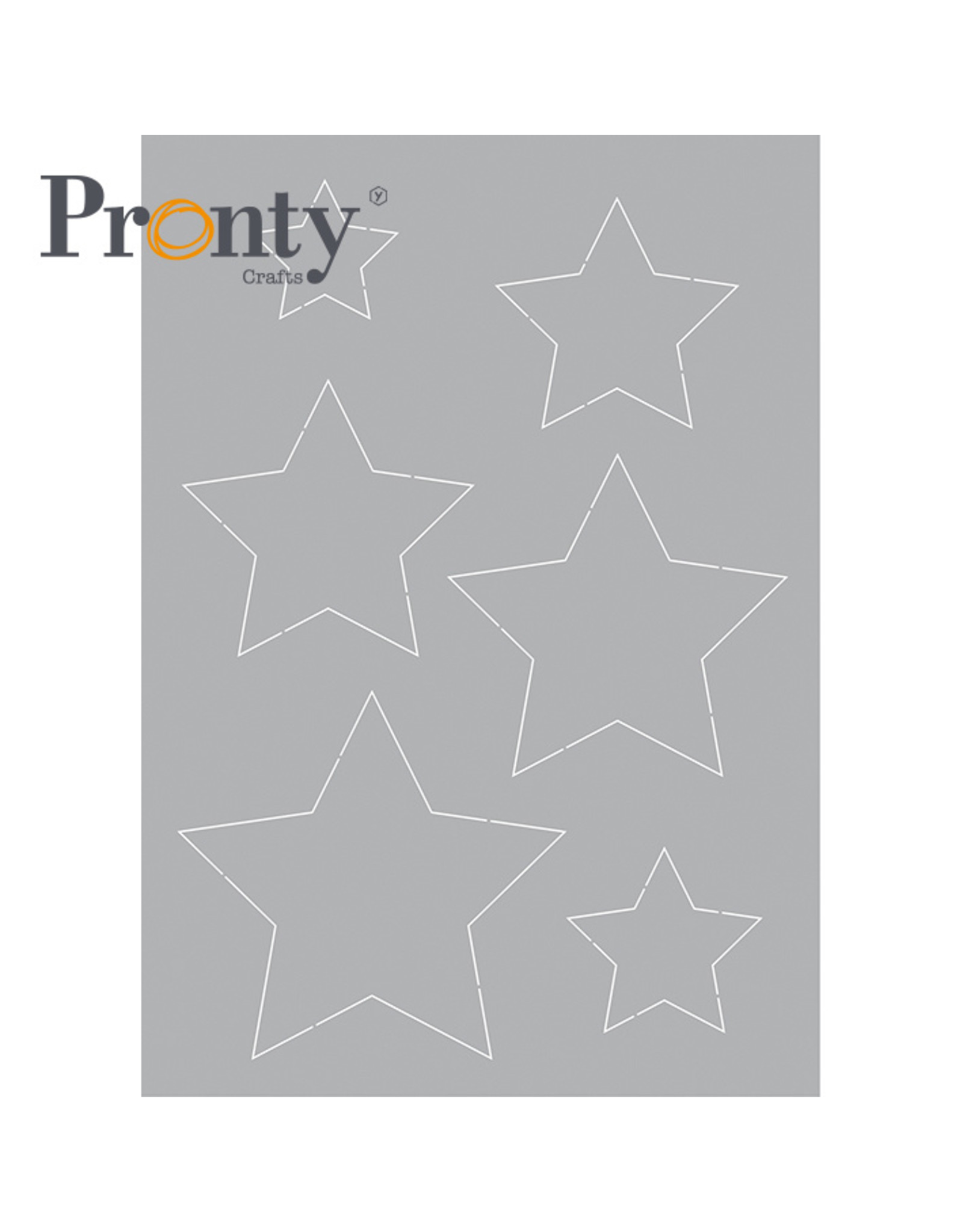 Pronty Crafts Stencil Stars A5