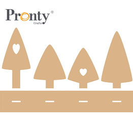 Pronty Crafts MDF  Christmas Trees