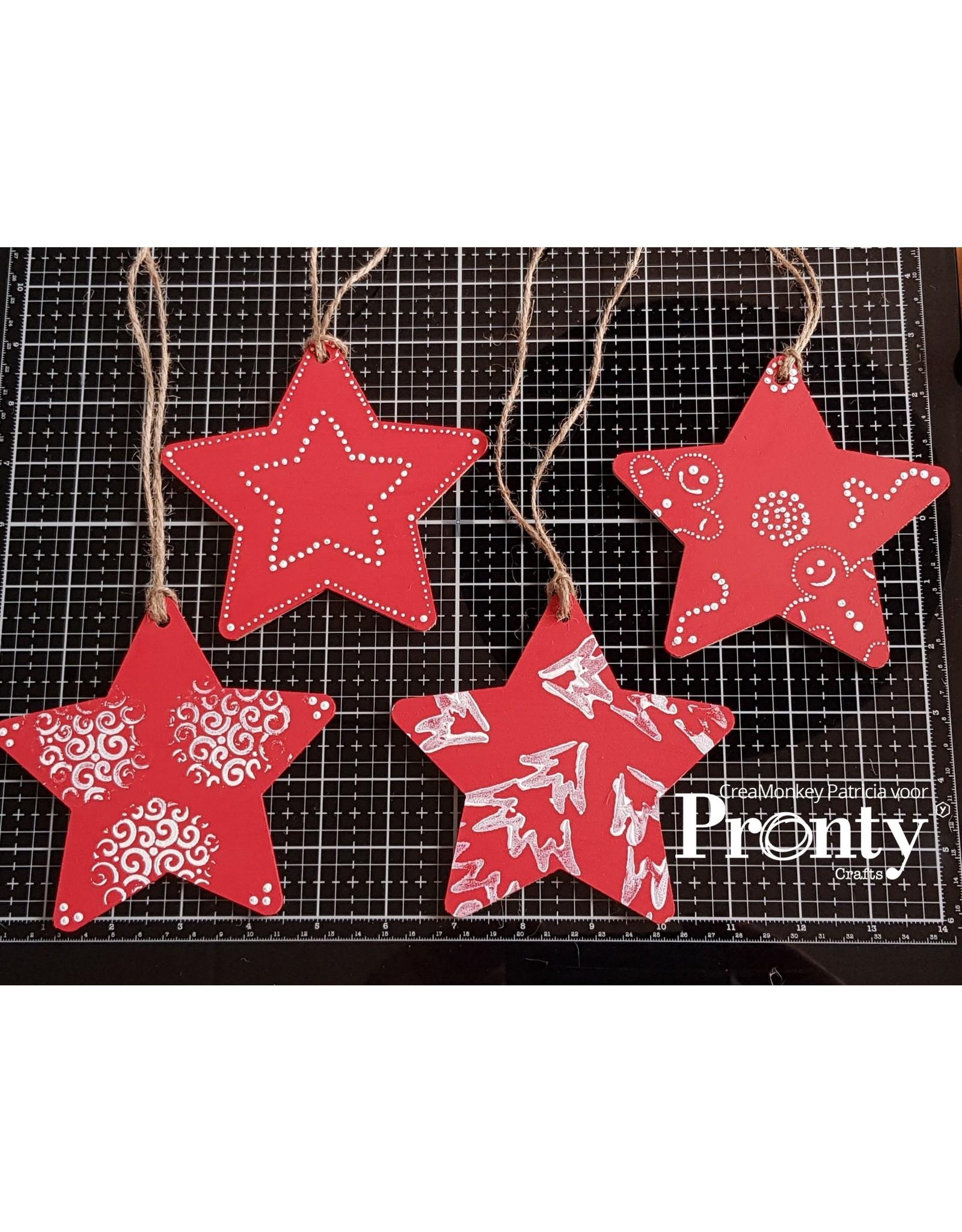 Pronty Crafts MDF Stars 10-pack
