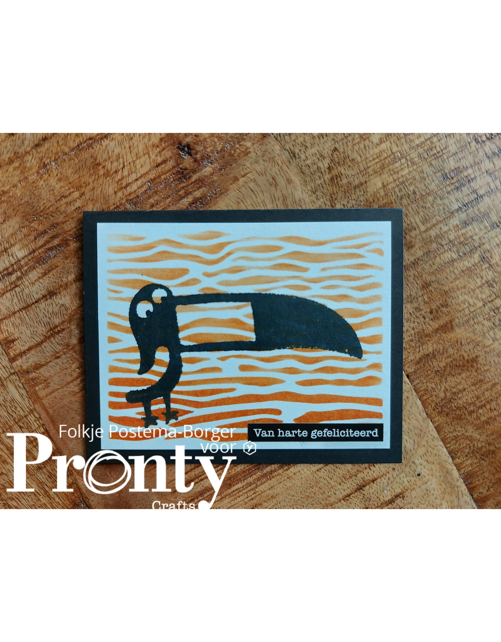 Pronty Crafts Stickers A5 Quote black