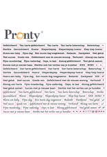 Pronty Crafts Stickers A5 Quote white