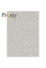 Pronty Crafts Chipboard A5 Alphabet
