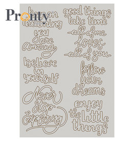 Pronty Crafts Chipboard A5 Quotes