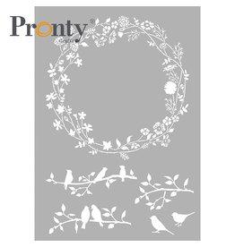Pronty Crafts Stencil Wreath Spring A4