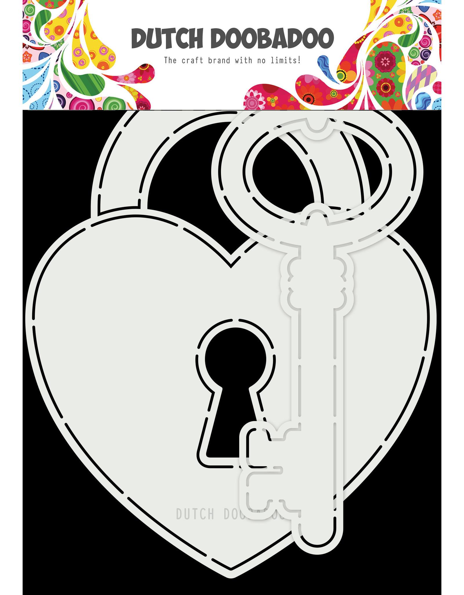 Dutch Doobadoo DDBD Card Art Key to my heart 2pc