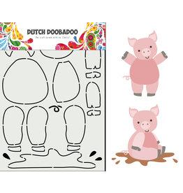 Dutch Doobadoo DDBD Card Art Built up Varkentje