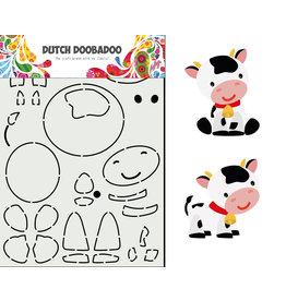 Dutch Doobadoo DDBD Card Art Built up Koe
