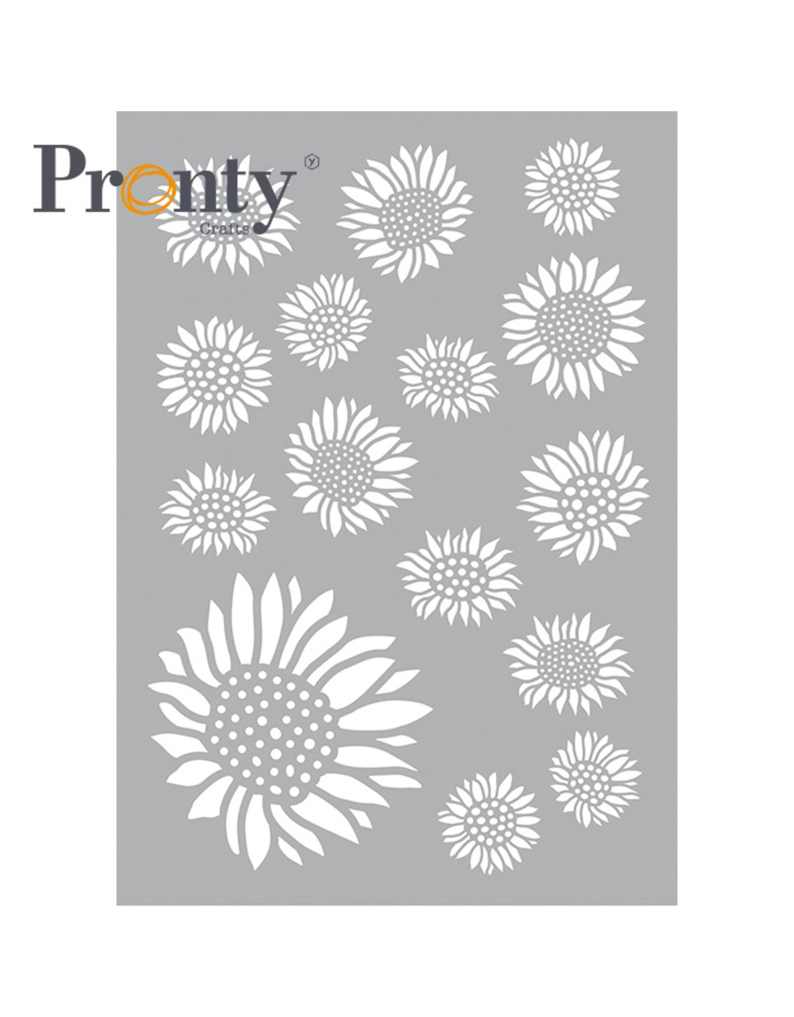Pronty Crafts Stencil Sunflowers A5
