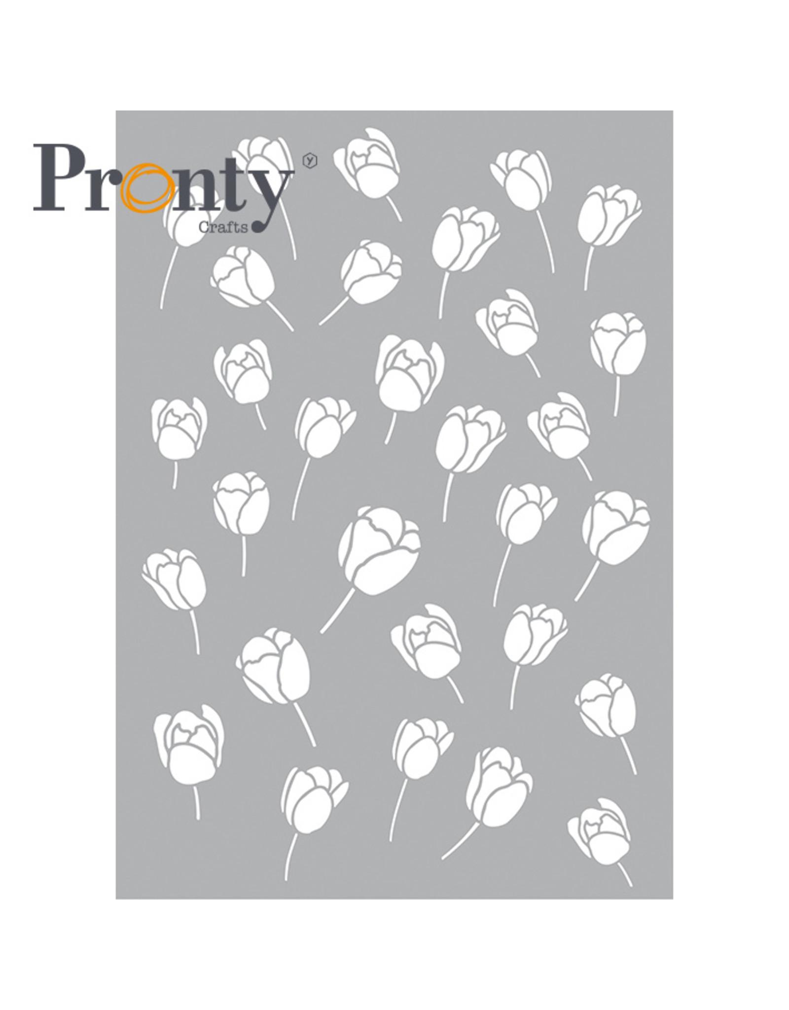 Pronty Crafts Stencil tulips A5