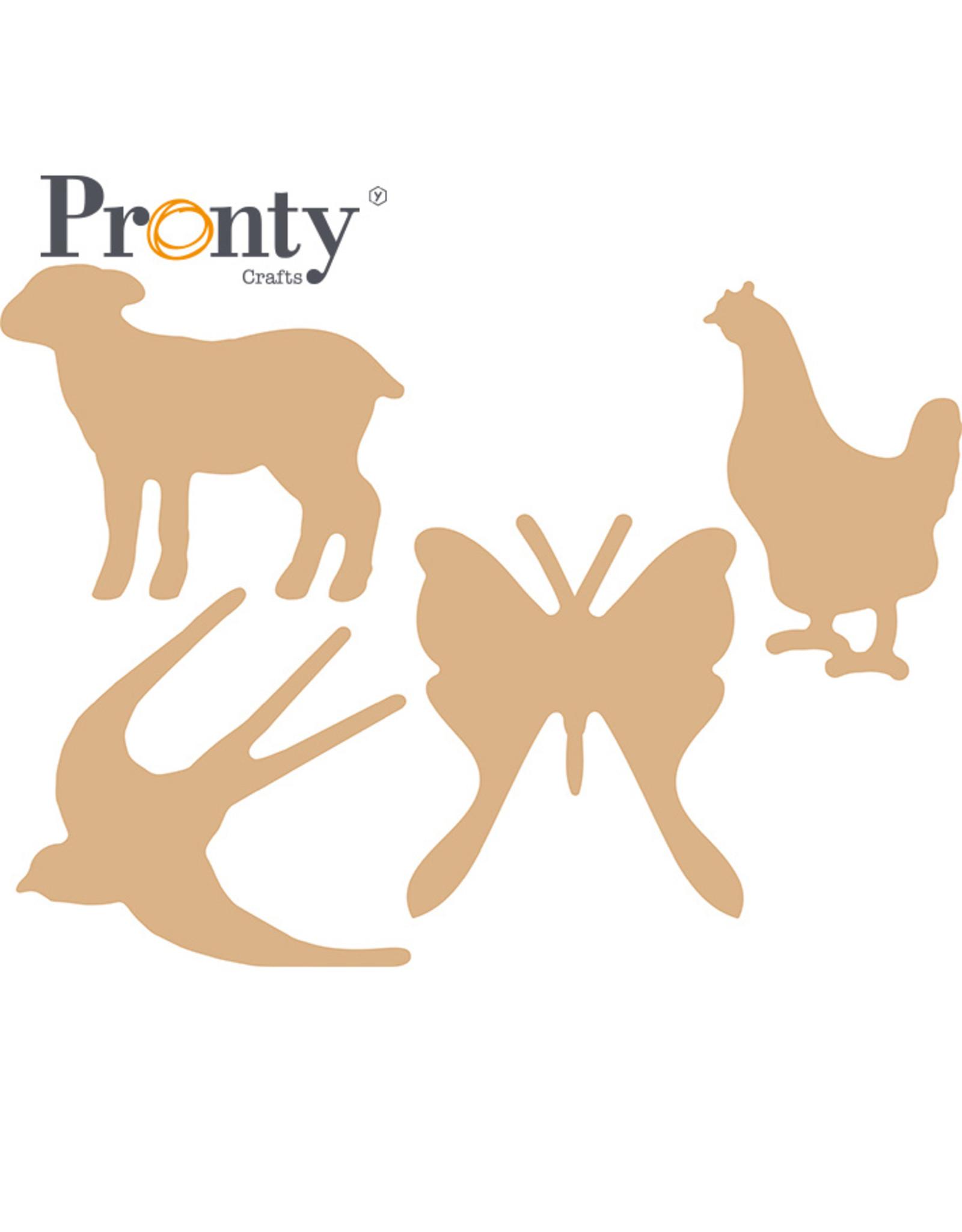 Pronty Crafts MDF Animal spring 3mm