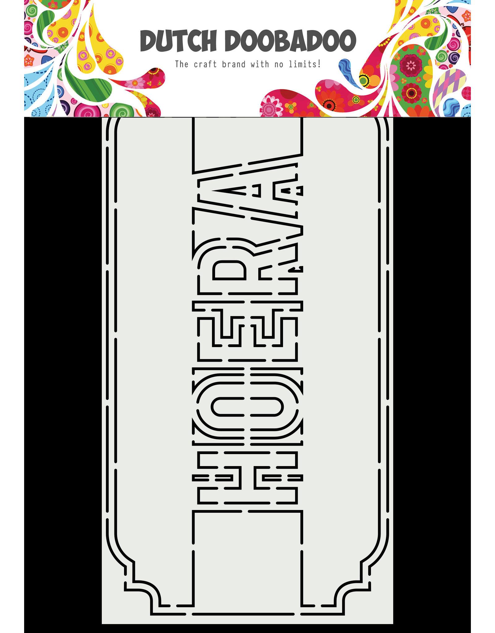 Dutch Doobadoo DDBD Card Art A5 Slimline Hoera
