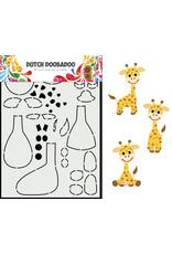 Dutch Doobadoo DDBD Card Art Built up Giraffe A5