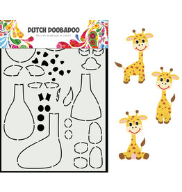 Dutch Doobadoo DDBD Card Art Built up Giraffe A5