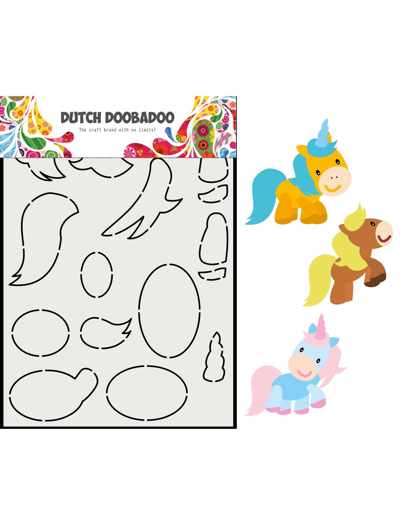 Dutch Doobadoo DDBD Card Art Built up Paard A5