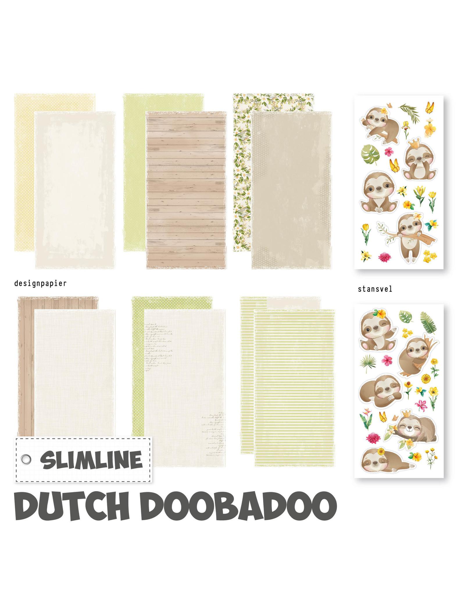 Dutch Doobadoo DDBD Slimline paper Kit Luiaard
