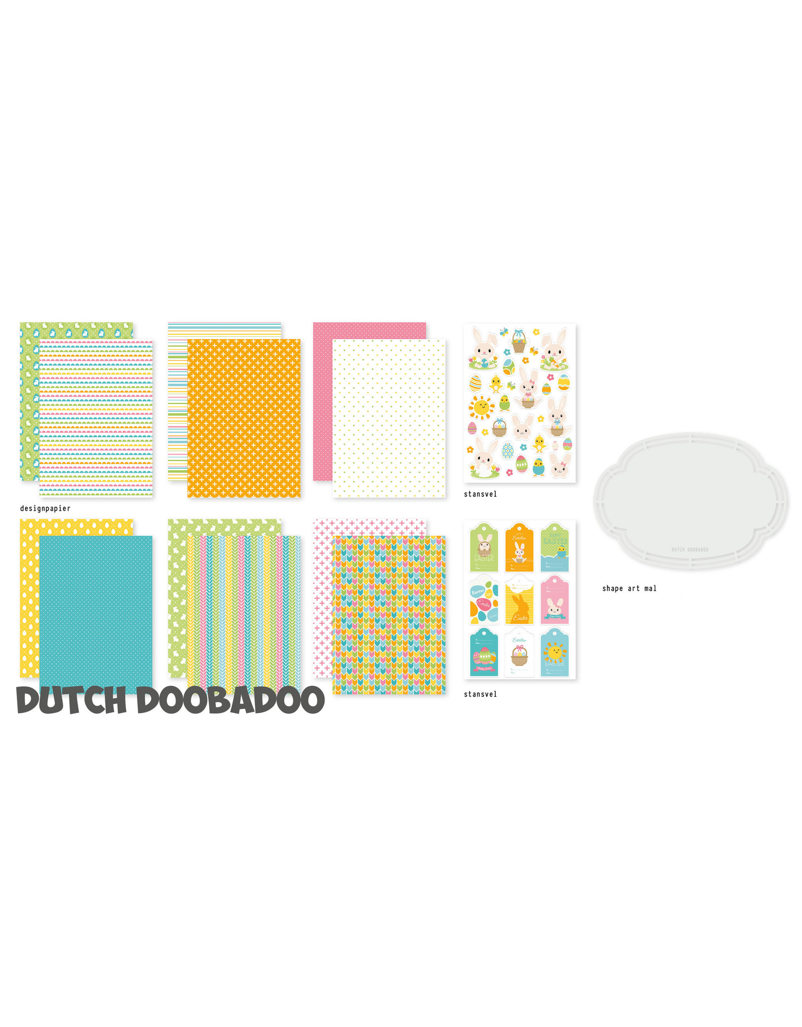 Dutch Doobadoo DDBD Crafty Kit A5 - Easter Bunnies