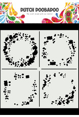 Dutch Doobadoo DDBD Mask Art 15 X 15 cm Circle Grunge