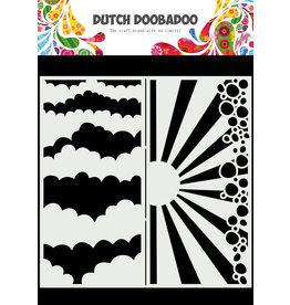 Dutch Doobadoo DDBD Mask Art Slimline Clouds