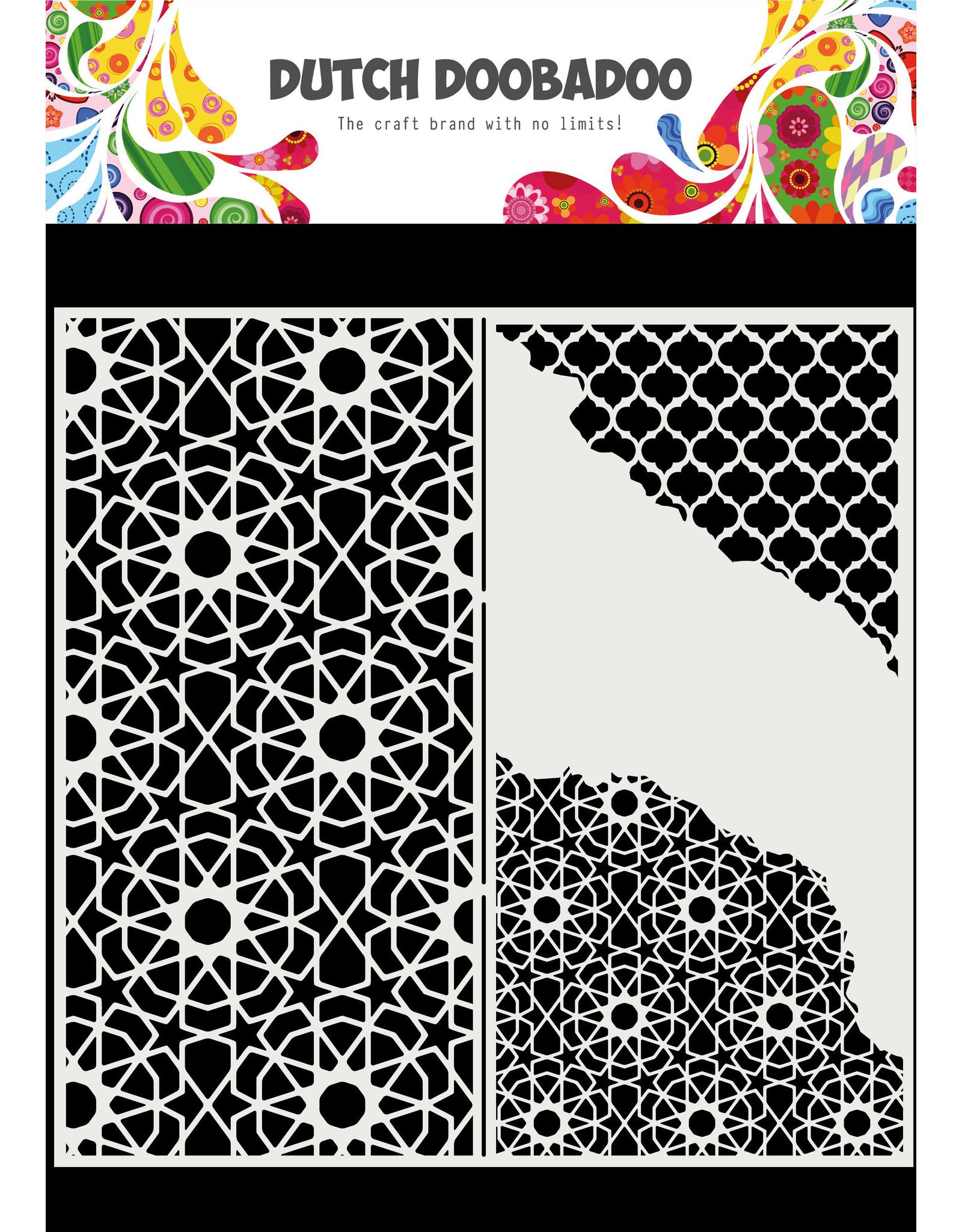 Dutch Doobadoo DDBD Mask Art Slimline Cracked Patterns