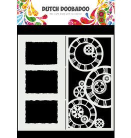 Dutch Doobadoo DDBD Mask Art Slimline Clocks
