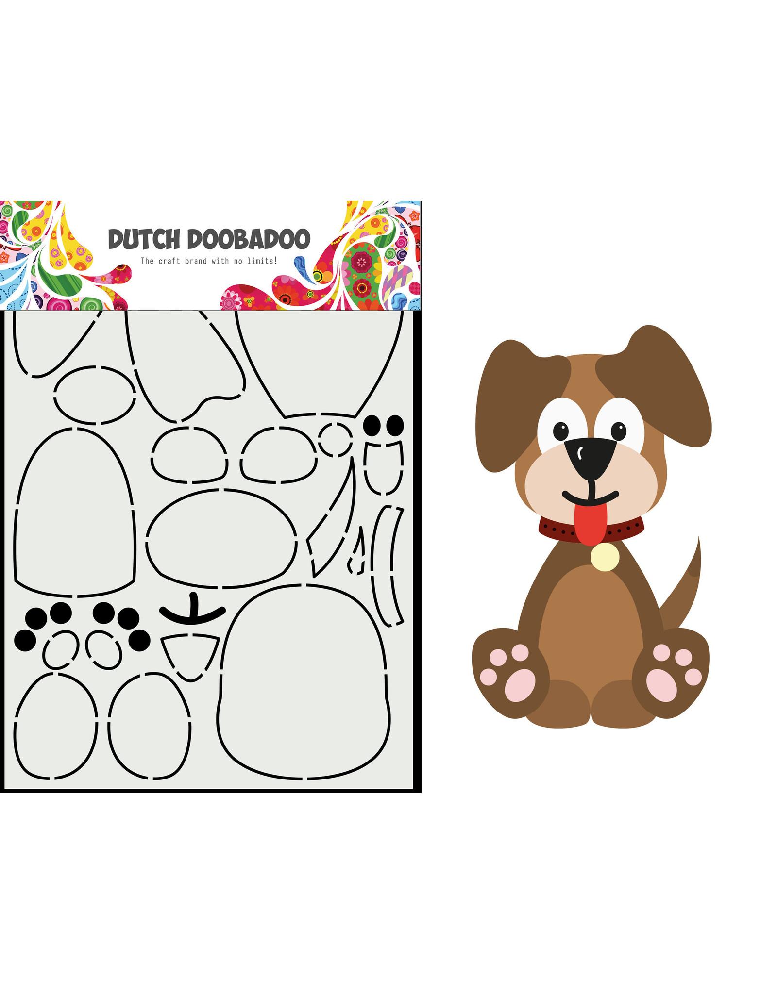 Dutch Doobadoo DDBD Card Art Built up Hondje A5