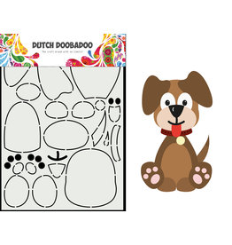 Dutch Doobadoo DDBD Card Art Built up Hondje A5